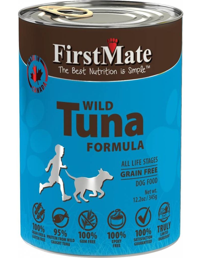 FirstMate Canned Dog Food Wild Tuna 12.5 oz single
