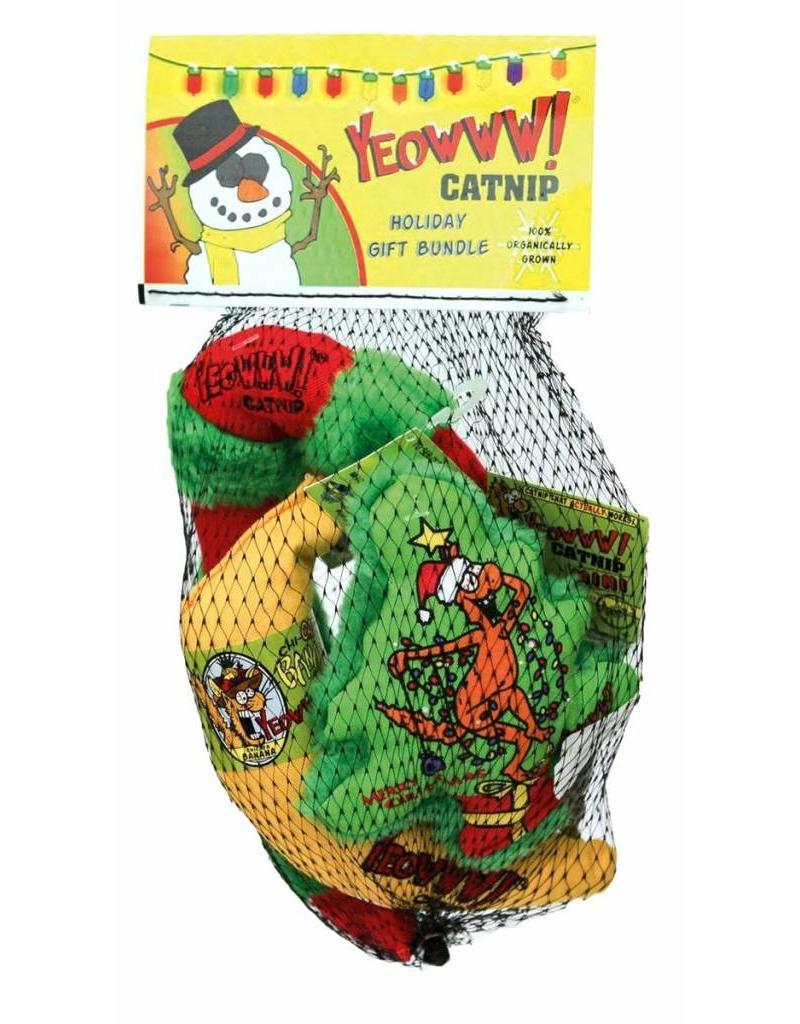 Yeowww! Yeowww! Christmas Cat Toys  Kris Krinkle Chirstmas Tree Holiday Bundle