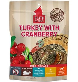 Plato Plato EOS Turkey & Cranberry Jerky Dog Treats  4 oz