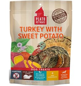 Plato Plato EOS Turkey & Sweet Potato Jerky Dog Treats  4 oz