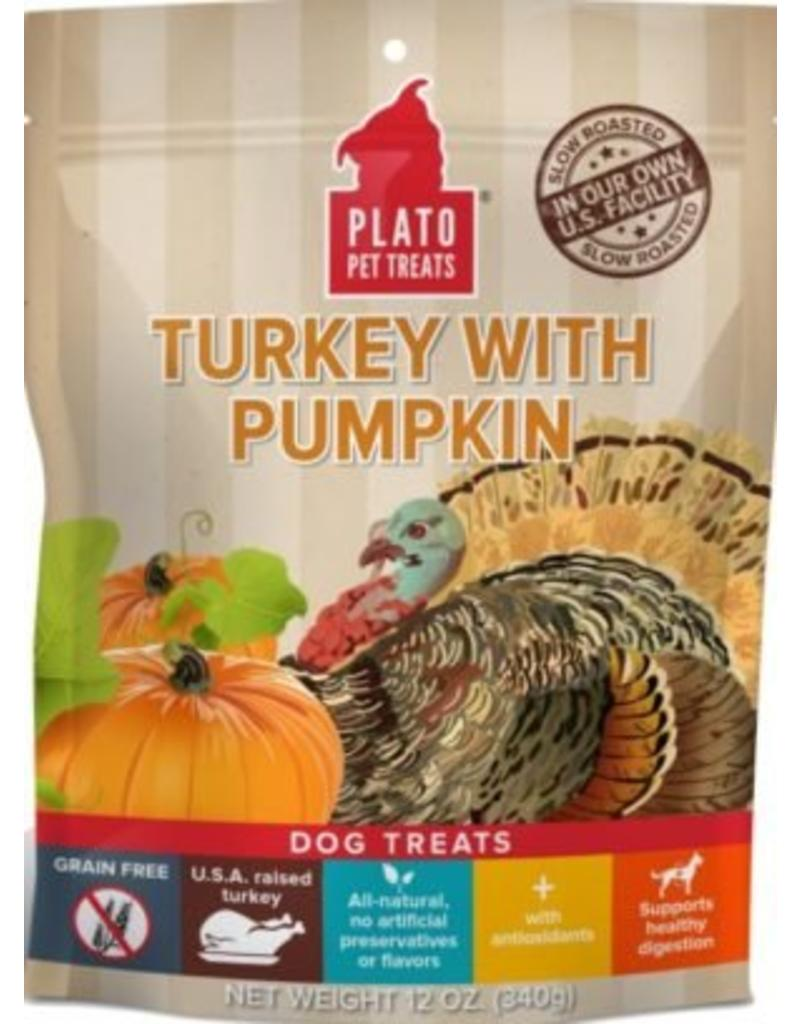 Plato Plato EOS Turkey & Pumpkin Jerky Dog Treat 4 oz