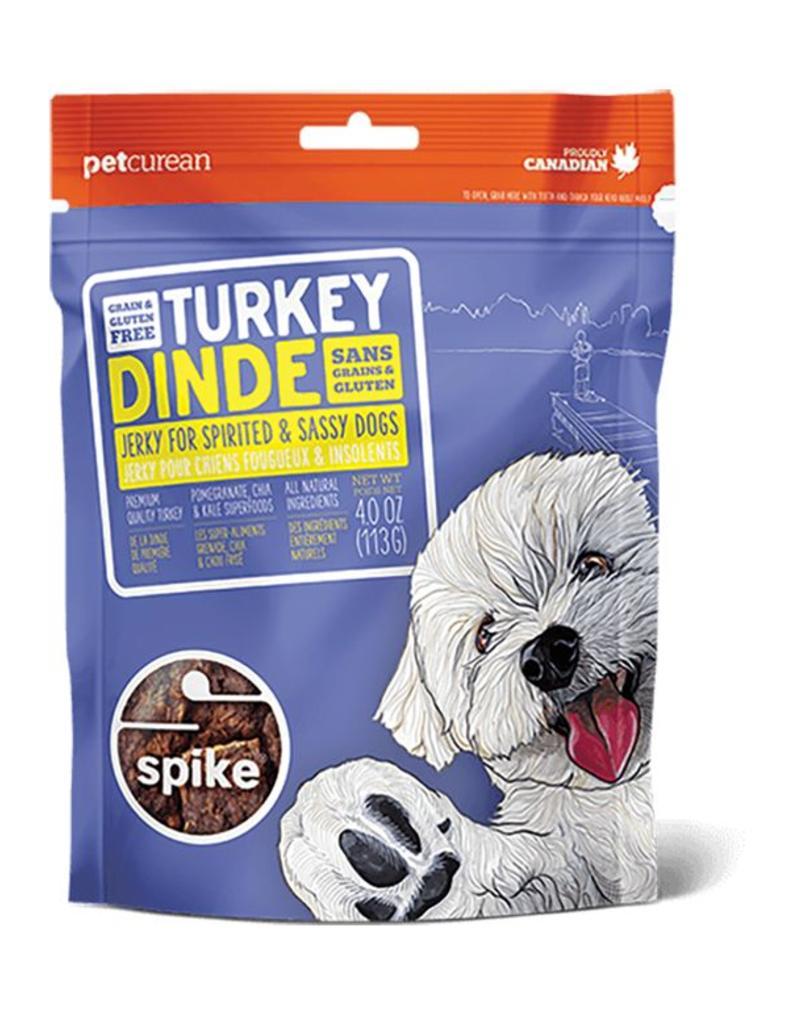 Petcurean Dog Jerky Treats Grain Free Turkey Spike Jerky 4 oz