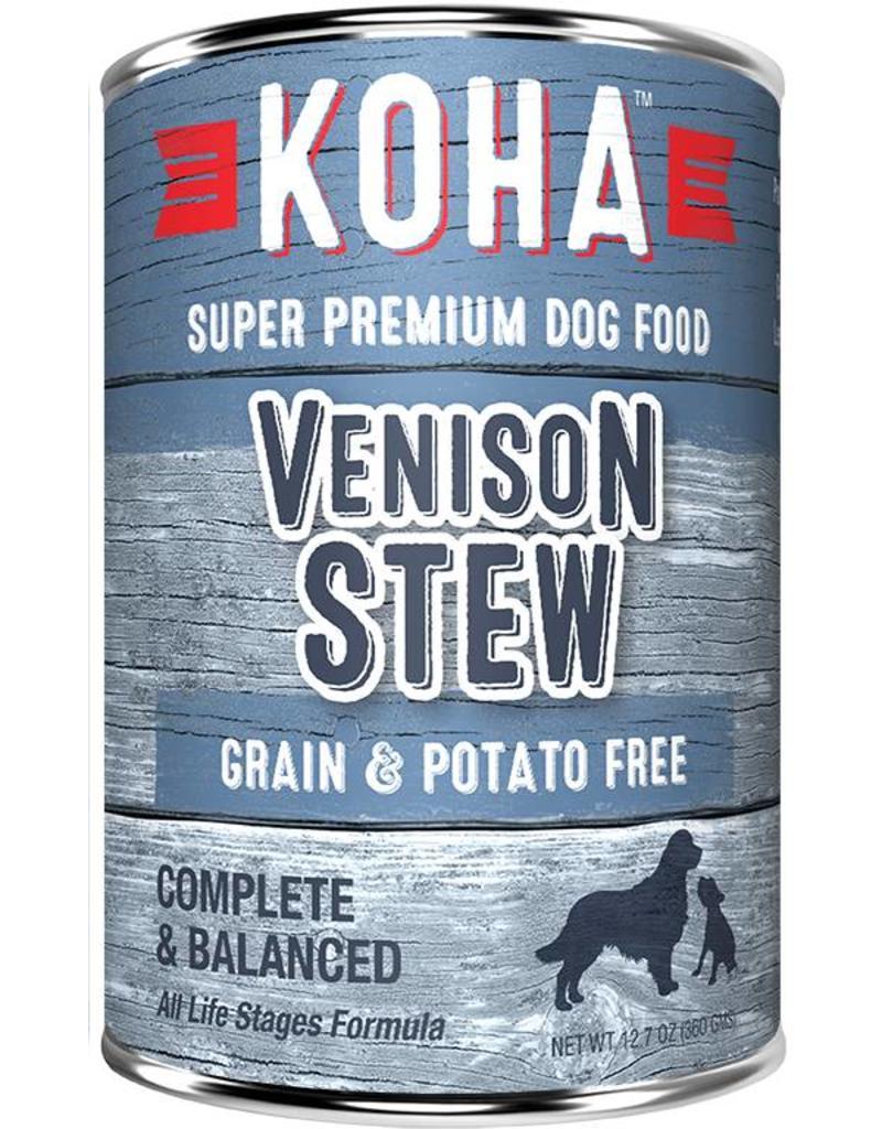 Koha Koha Canned Dog Food Venison Stew 12.7 oz single