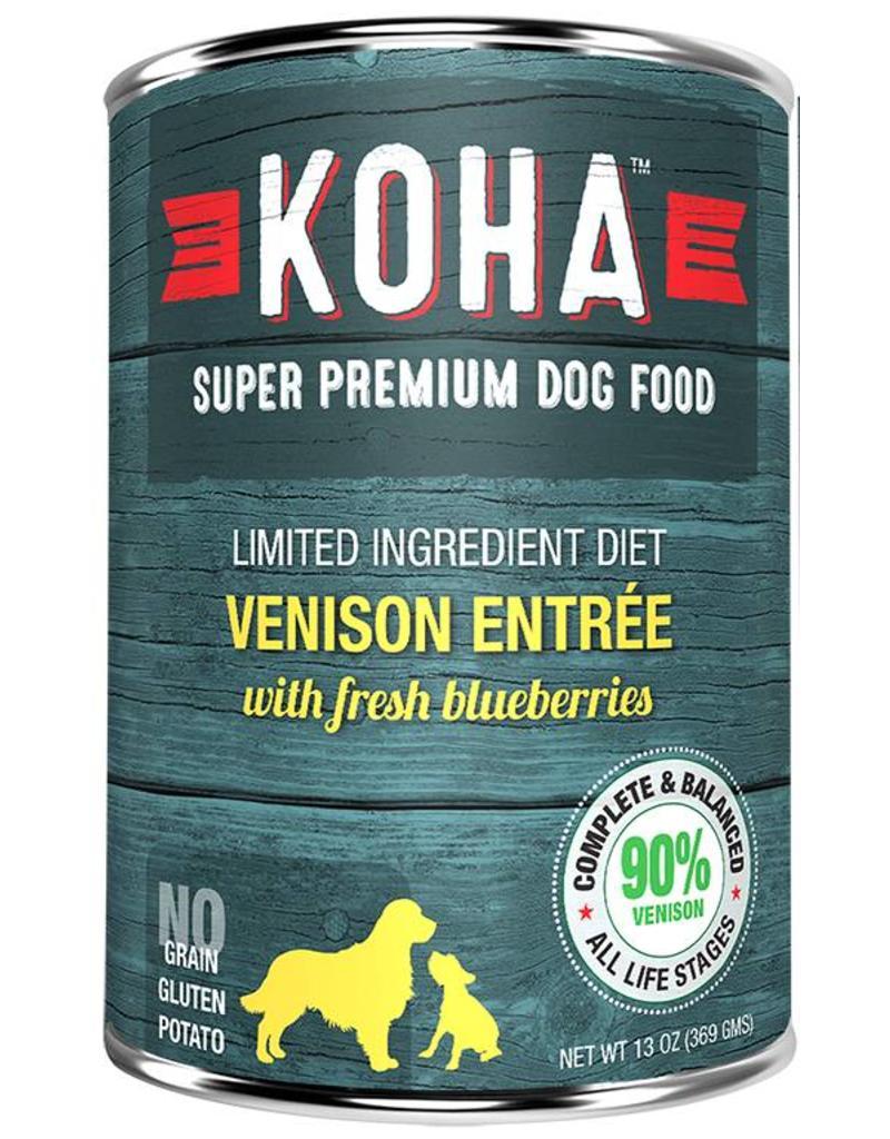 Koha Koha Canned Dog Food Venison Entree 12.7 oz single