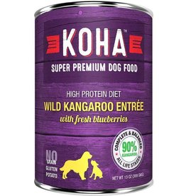 Koha Koha Canned Dog Food Kangaroo Entree 12.7 oz single