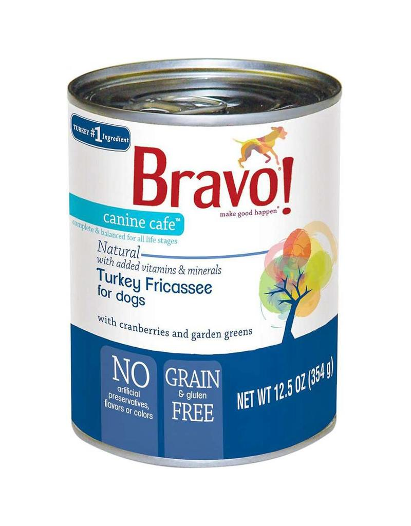 Bravo Bravo Dog Cans Turkey Fricassee 12.5 oz single