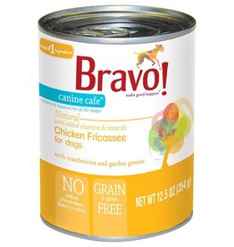 Bravo Bravo Dog Cans Chicken Fricassee 12.5 oz single