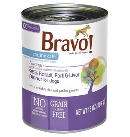 Bravo Bravo Canned Dog Food  Rabbit, Pork, Liver 13 oz