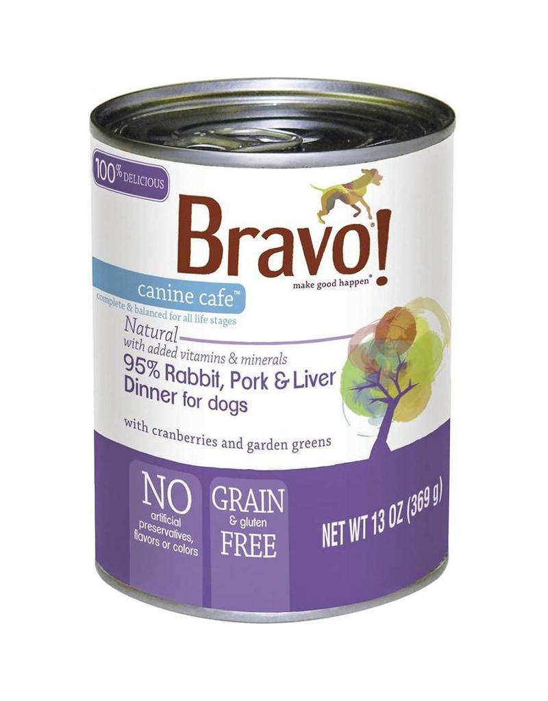 Bravo Bravo Canned Dog Food  Rabbit, Pork, Liver 13 oz