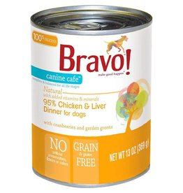 Bravo Bravo Canned Dog Food  Chicken & Liver 13 oz