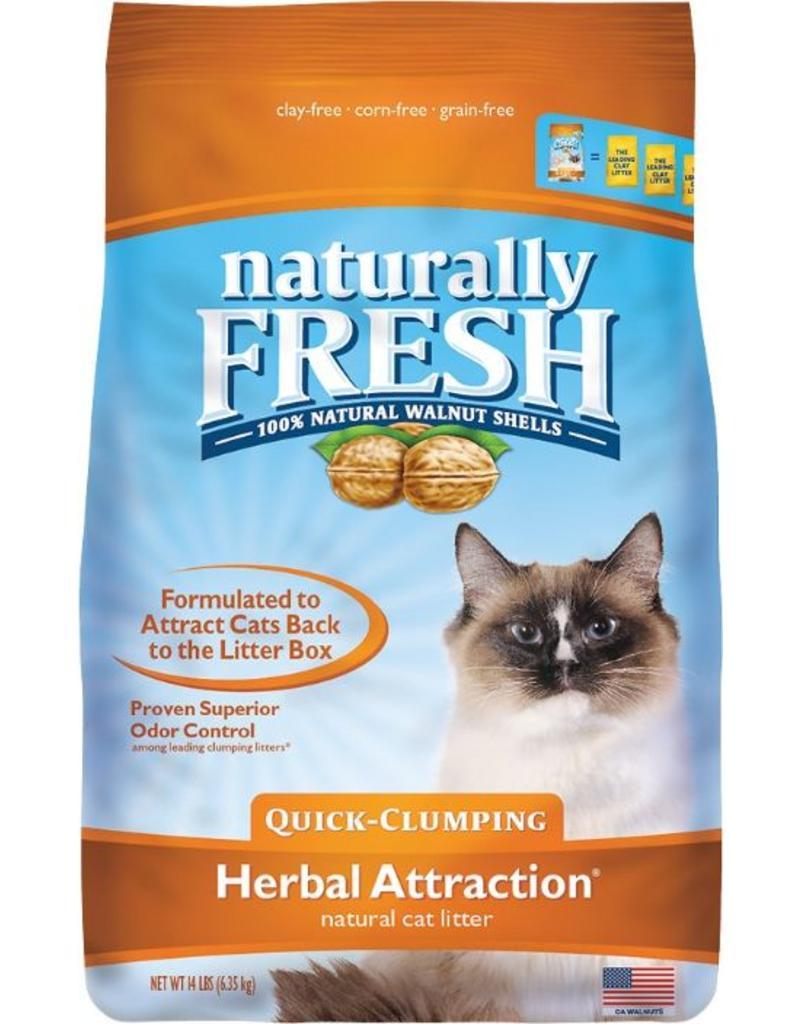 Eco Shell Naturally Fresh Walnut Litter Herbal Attract 14 lbs