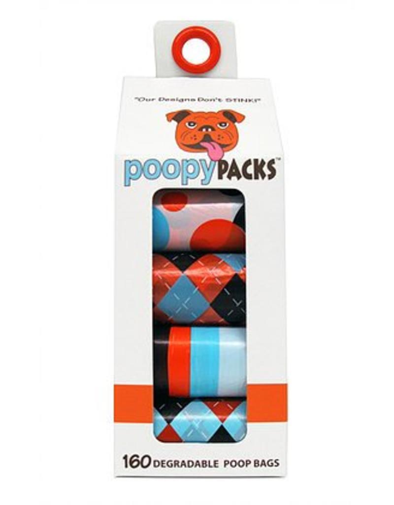 Metro Paws Poopy Packs Orange Multi 8 pack 160 ct Degradable Poop Bags