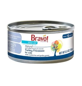 Bravo Bravo Canned Cat Turkey Fricassee 5.5 oz single