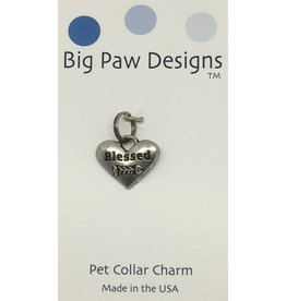 Big Paw Designs Dog Tags  Blessed Cat Fish Bone
