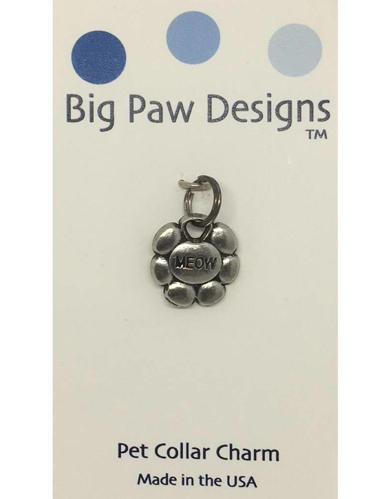 Big Paw Designs Dog Tags  Cat Meow Flower