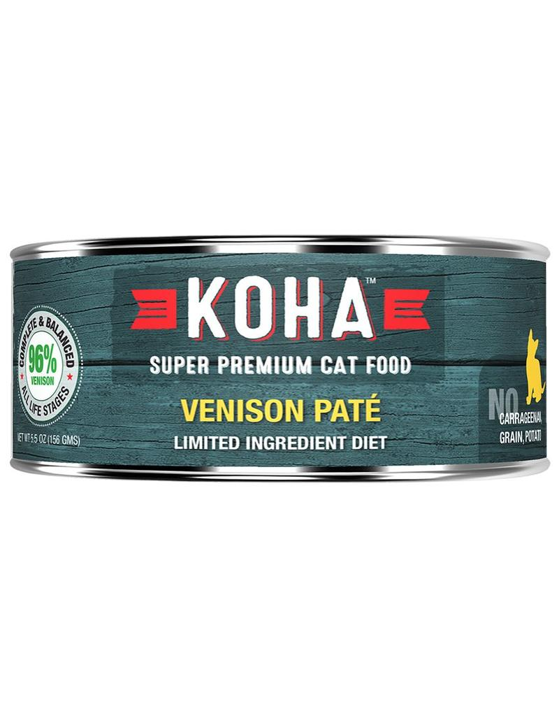 Koha Koha Canned Cat Food Venison Pate 5.5 oz single