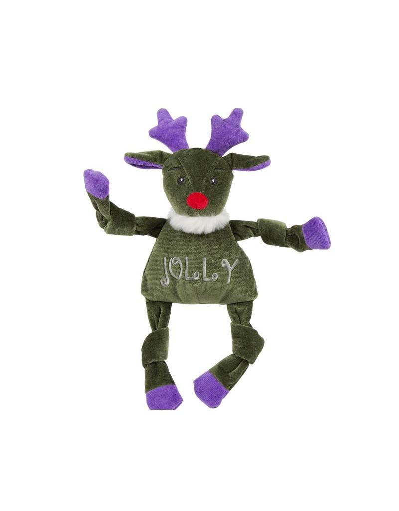 HuggleHounds Huggle Hounds Christmas 2018 Toys Jolly Reindeer Knottie Large