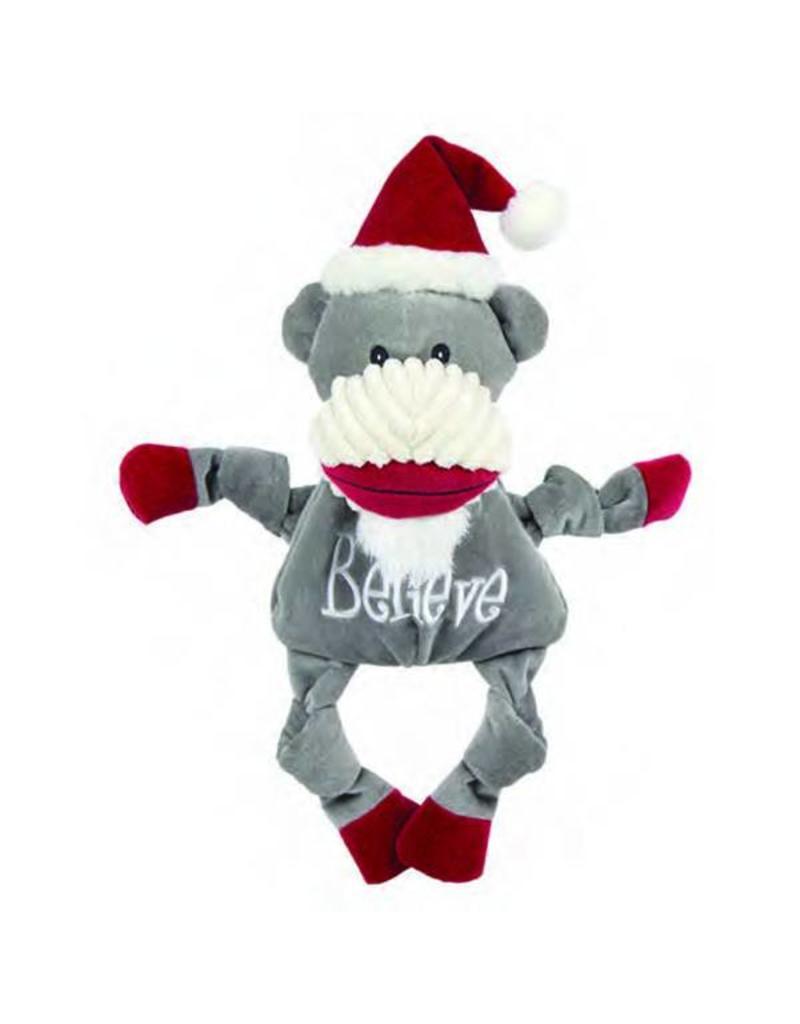 HuggleHounds Huggle Hounds Christmas 2018 Toys Believe Sock Monkey Knottie Large