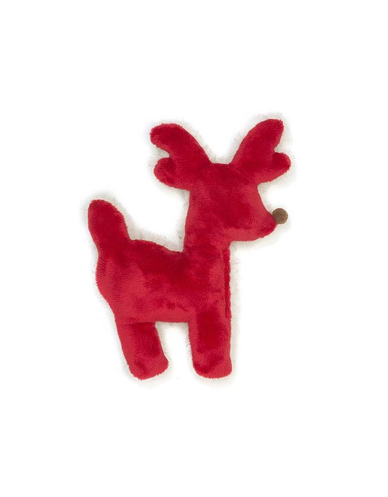 West Paw West Paw Holiday Tiny Tuff Reindeer  Red