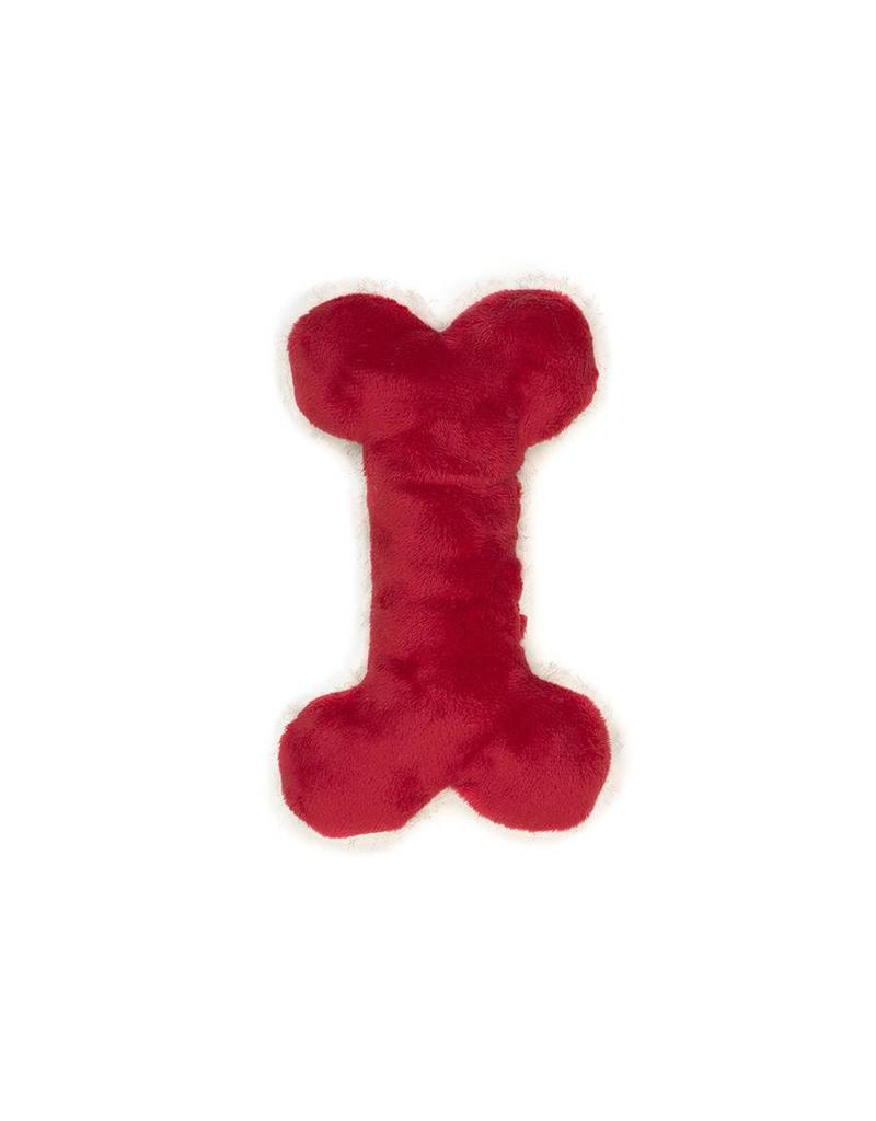 West Paw West Paw Holiday Mini Merry Bone  Red