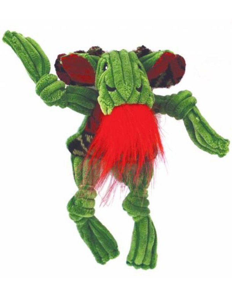 HuggleHounds HuggleHounds Christmas Green Corduroy Knottie Christmas Moose 2017 Wee