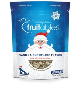 Fruitables Fruitables Dog Holiday Treats Vanilla Snowflake Flavor 7 oz