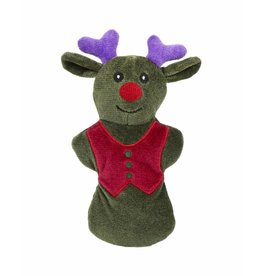 Huggle Hounds Christmas Plush Corduroy Durable Cookie 2018 Reindeer