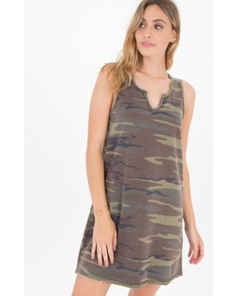 Z Supply Camo Tank Dress - The Paisley Boutique