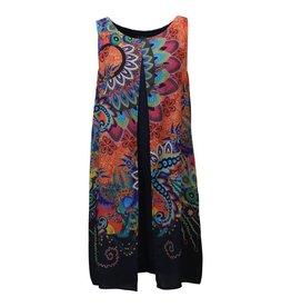 Tribal S18R Tribal  27530 Navy print dress