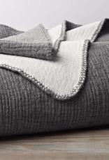 "Coyuchi Cozy Cotton Blanket Throw, 50"" x 70"", Organic Cotton - Charcoal"