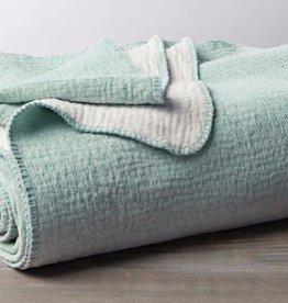 "Coyuchi [D] Cozy Cotton Blanket Throw, Organic Cotton, 50"" x 70"" - Sea Spray"