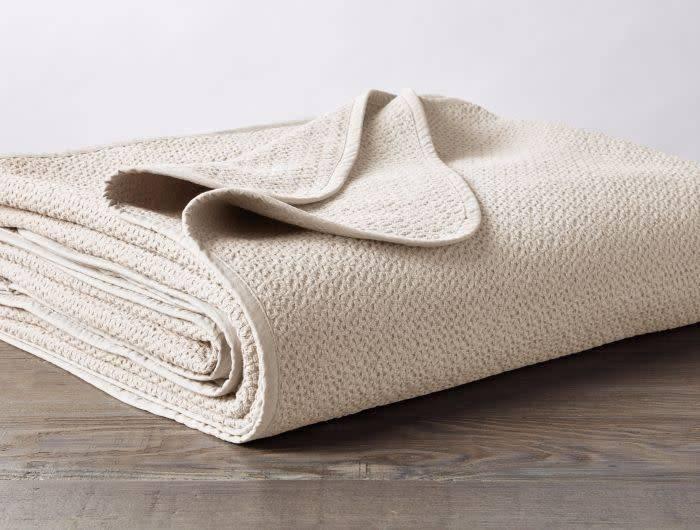 Coyuchi Honeycomb Baby Blanket, Organic Cotton - Ivory