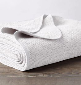 Coyuchi Honeycomb Baby Blanket, Organic Cotton - White