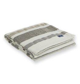 "Faribault Woolen Mill Co. Kerrick Stripe Cotton Throw, 50"" x 72"" - Gray"