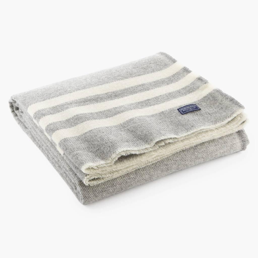 "Faribault Woolen Mill Co. Trapper Wool Throw, 50"" x 72 - Gray"