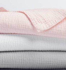 "Coyuchi Washed Matelasse Stroller Blanket, 34"" x 44"" - Alpine White"