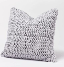 """Coyuchi Woven Rope Organic Pillow Cover, 22"""" x 22"""" - Pewter"""
