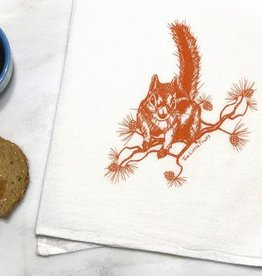 Two Little Fruits Squirrel - Tea Towel