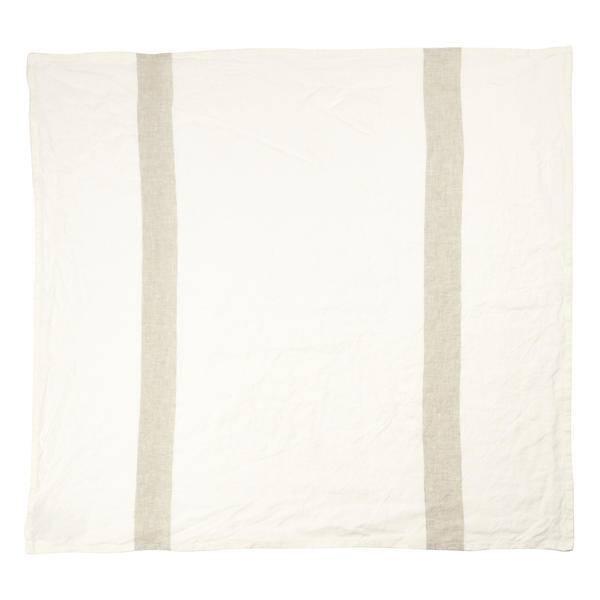 """Libeco Belgian Linens Porticcio Tea Towel, 27"""" x 27"""" - Stone"""
