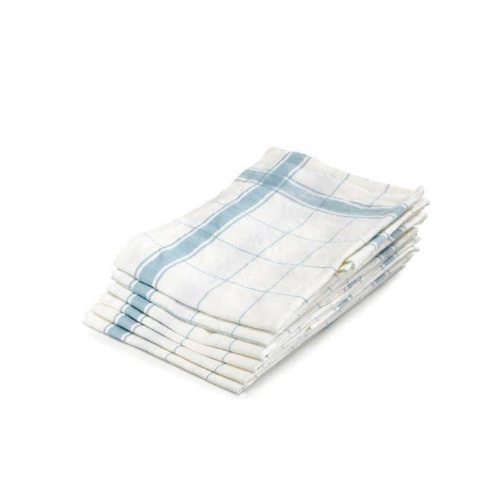 "Libeco Belgian Linens Parma Linen Tea Towel, 27"" x 27"" - Turquoise"