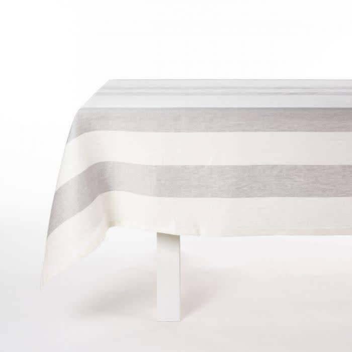 """Libeco Belgian Linens Long Island Linen Table Runner, 21"""" x 57"""" - Stripe"""