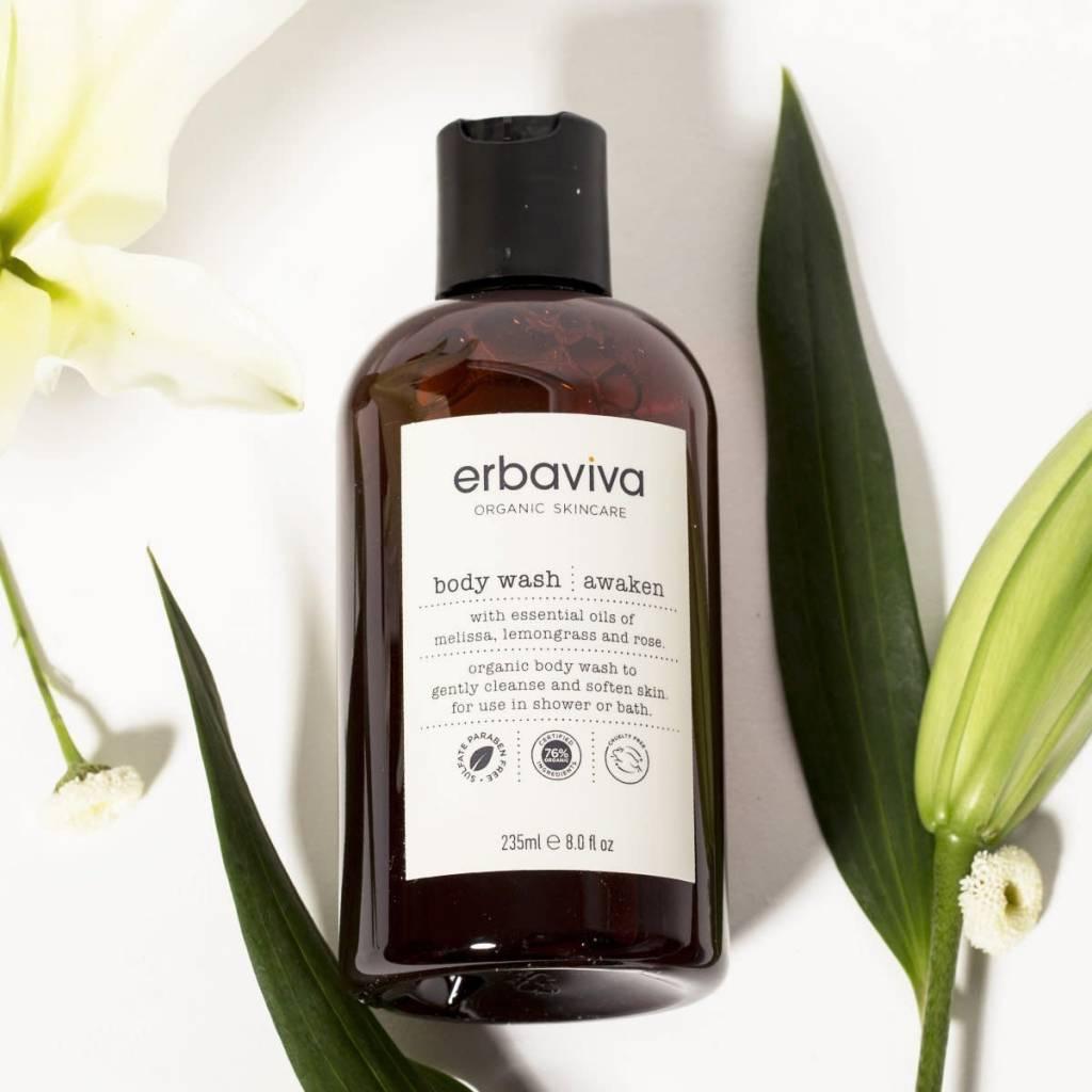 Erbaviva Awaken Body Wash,  235ml / 8 fl. oz.