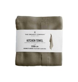 The Organic Company Organic Kitchen Towel, Clay