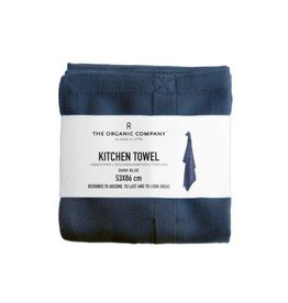 The Organic Company Organic Kitchen Towel, Dark Blue