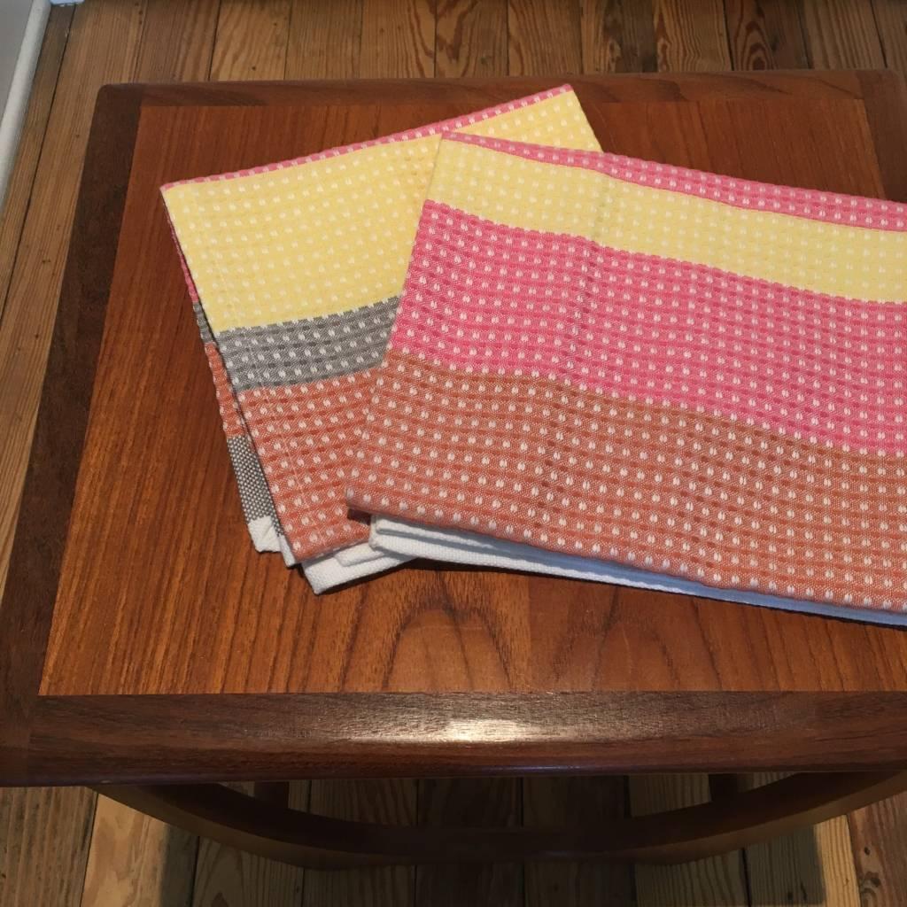 "Coyuchi Striped Waffle Organic Kitchen Towel, 20"" x 30"" - Warm"