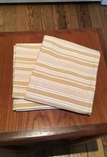 "Coyuchi Pickstitch Kitchen Towel, 20"" x 30""  - Yellow Stripe"