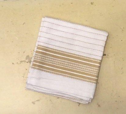 "Coyuchi Pickstitch Kitchen Towel, 20"" x 30"", Yellow Border"