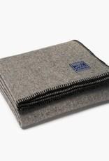 """Faribault Woolen Mill Co. Eco-Woven Wool Throw 45"""" x 66"""" Black"""