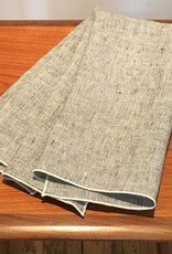 """Pickwick House Scribe Linen Guest Towel, 18"""" x 28"""" -  Wht Trim"""