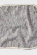 Coyuchi Mediterranean Wash Cloth, Set of 3 - Pewter